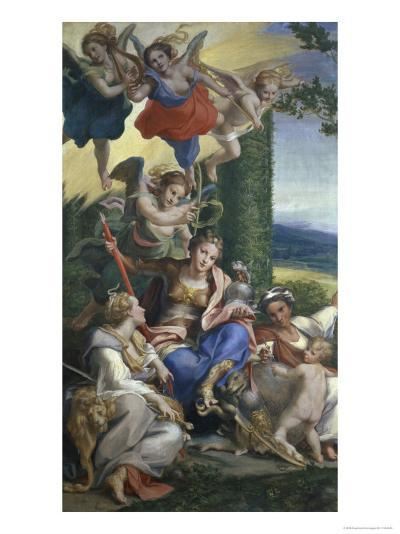 Allegory of the Virtues-Correggio-Giclee Print