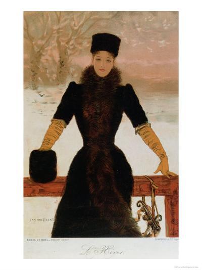 Allegory of Winter, circa 1900-Jan van Beers-Giclee Print