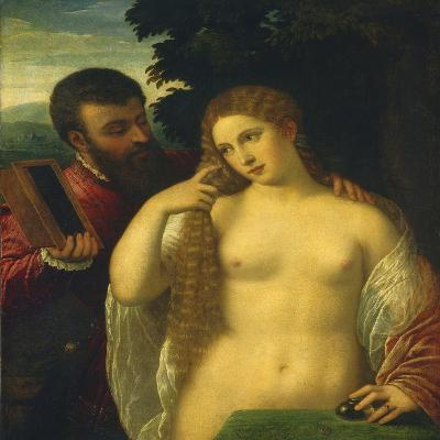 Allegory, Possibly Alfonso D'Este and Laura Dianti-Titian (Tiziano Vecelli)-Giclee Print