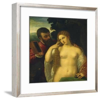 Allegory, Possibly Alfonso D'Este and Laura Dianti-Titian (Tiziano Vecelli)-Framed Giclee Print