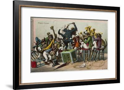 Allegro Furioso' - a Monkey Orchestra--Framed Giclee Print