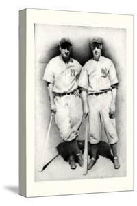 Dimaggio and Gehrig by Allen Friedlander