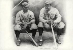 Ruth and Gehrig by Allen Friedlander