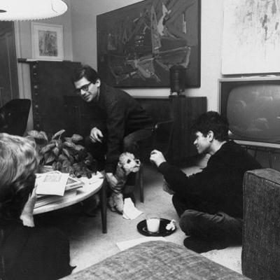 Allen Ginsberg and Gregory Corso During a Poetry Reading Party