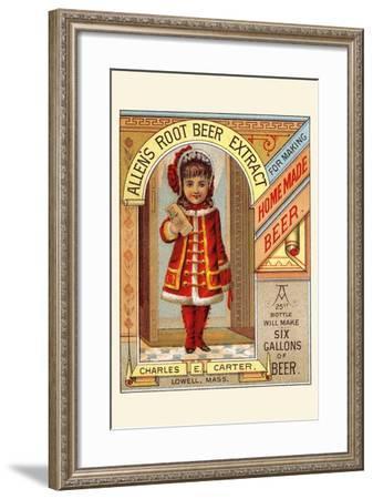 Allen's Root Beer Extract--Framed Art Print