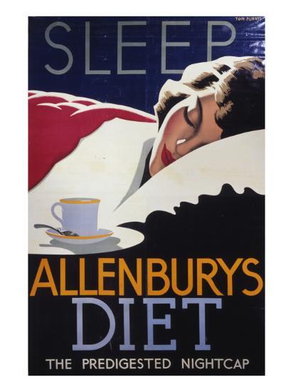Allenburys Diet Advert, the Predigested Nightcap for a Good Night's Sleep--Giclee Print