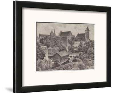 Allenstein - Schloss-Bruck-Framed Art Print
