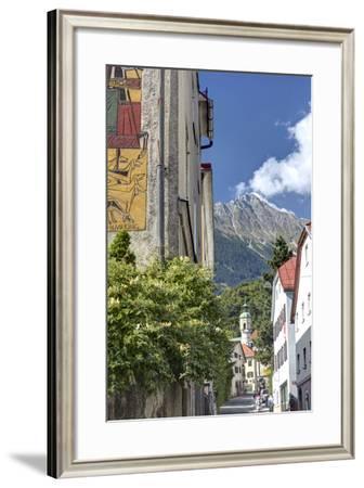 Alley in Hotting District of Innsbruck, Mariahilf, Innsbruck, Tyrol, Austria-Klaus Neuner-Framed Photographic Print