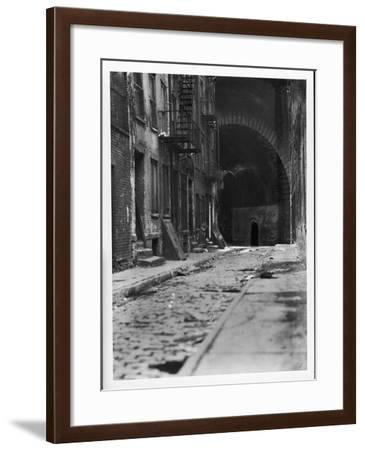 Alley on the Bowery, New York-Emil Otto Hoppé-Framed Photographic Print