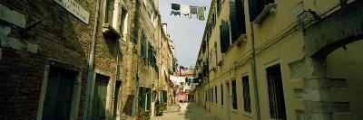 Alleyway with Hanging Laundry, Castello, Venice, Veneto, Italy--Photographic Print