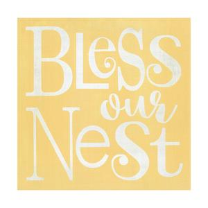Bless Our Nest Yellow by Alli Rogosich