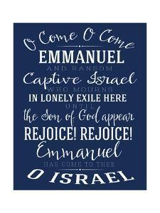 O Come Emmanuel Navy by Alli Rogosich