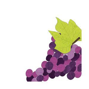Watercolor Grapes by Alli Rogosich