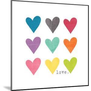 Watercolor Hearts by Alli Rogosich