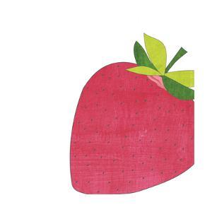 Watercolor Strawberry by Alli Rogosich