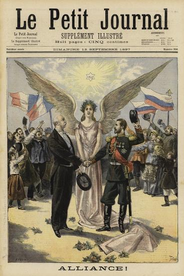 Alliance Between France and Russia, 1897--Giclee Print