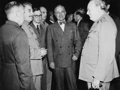 Allied Leaders at the Potsdam Conference, July 17- Aug. 2, 1945