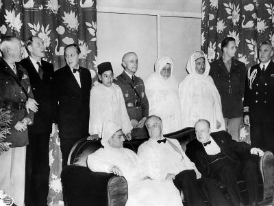 Allied Nations War Strategy Conference in Casablanca, French Morocco, Feb 1, 1943--Photo