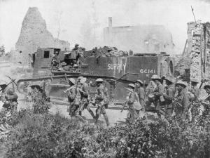 Allied Troops Marching Through a Liberated Town, 27 October 1918