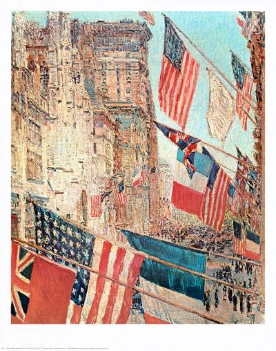 Allies Day, May 1917, 1917-Childe Hassam-Art Print