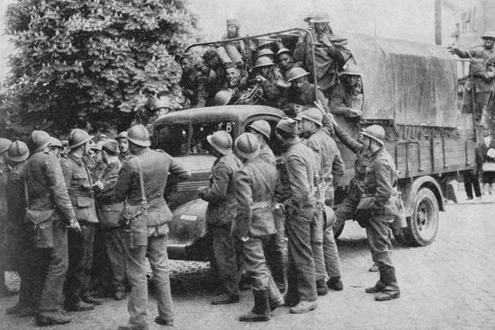 Allies Go To Belgiums Aid, 1940, (1940)--Photographic Print