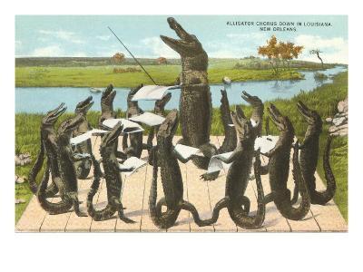 Alligator Chorus in New Orleans, Louisiana--Art Print
