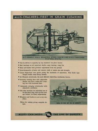 Allis Chalmers Rumely Ball Bearing, Steel Grain and Rice Thresher--Giclee Print