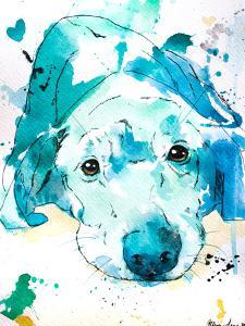 Blue Labrador Retriever by Allison Gray