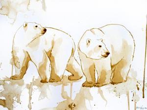 Coffee Polar Bears by Allison Gray