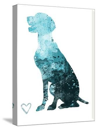 German Shorthair Pointer Silhouette by Allison Gray