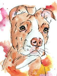 Golden Red Pit Bull Puppy by Allison Gray