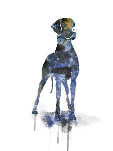 Great Dane Silhouette by Allison Gray