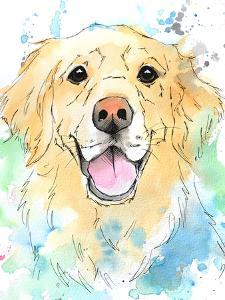 Joy Of A Golden Retriever by Allison Gray