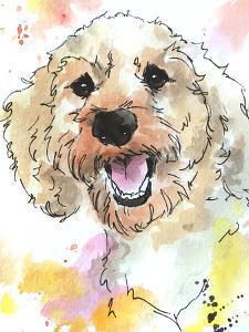 Joyful Peaches Poodle by Allison Gray