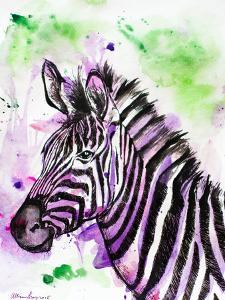 Purple Zebra by Allison Gray