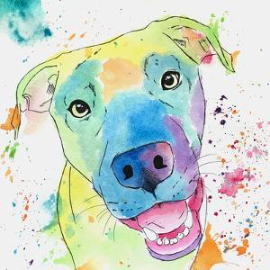 Rainbow Great Dane by Allison Gray