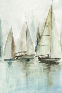 Blue Sailboats III by Allison Pearce
