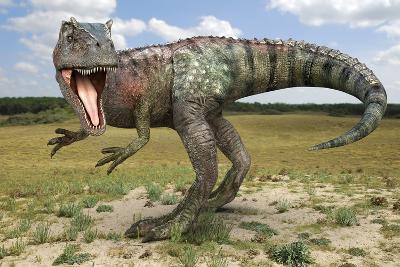 Allosaurus Dinosaur, Artwork-Roger Harris-Photographic Print