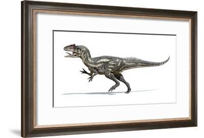 Allosaurus Dinosaur, Artwork--Framed Art Print