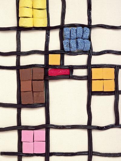 Allsorts 1 (After Mondrian) 2003-Norman Hollands-Photographic Print