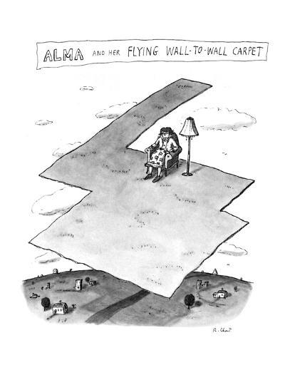 Alma and her Flying Wall-To-Wall Carpet - New Yorker Cartoon-Roz Chast-Premium Giclee Print