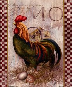 Green Pastures Rooster by Alma Lee