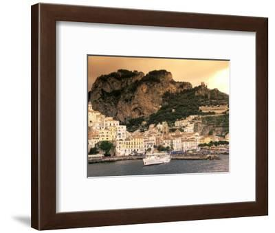 Almafi, Italy Including a Fishing Harbour at Sunset-Richard Nowitz-Framed Photographic Print
