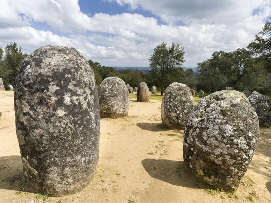 Almendres Cromlech Ancient Stone Circle. Portugal-Martin Zwick-Photographic Print