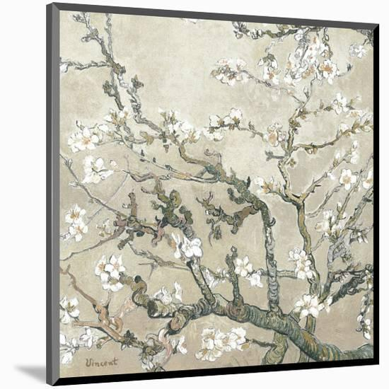 Almond Branches in Bloom, San Remy, c.1890 (tan)-Vincent van Gogh-Mounted Premium Giclee Print