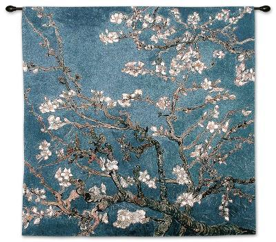 Almond Branches in Bloom, San Remy, c.1890-Vincent van Gogh-Wall Tapestry