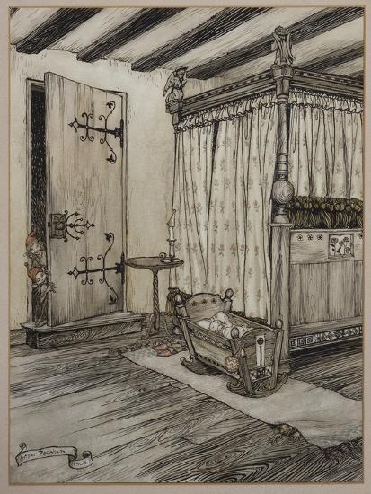 '....Almost Fairy Time', 1908-Arthur Rackham-Giclee Print