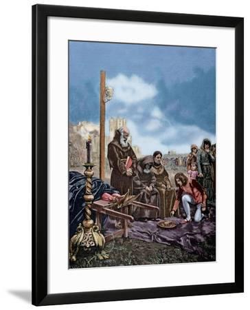 Alms for the Soul of Constable Don Alvaro De Luna (1390-1453)-Adolf Closs-Framed Giclee Print
