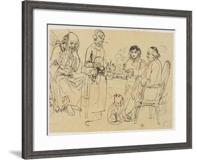 Alms to the Poor-Rodolphe Bresdin-Framed Giclee Print