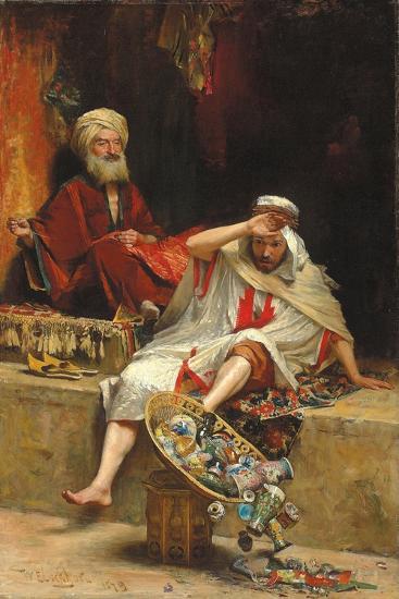 Alnaschar's Fortune, Arabian Nights, 1879-William Ewart Lockhart-Giclee Print